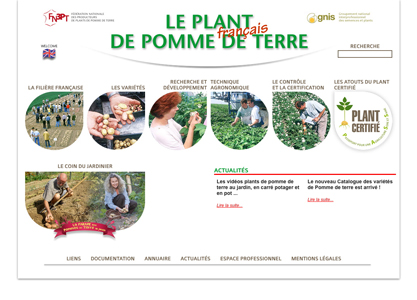 Page d'accueil du site plantdepommedeterre.org